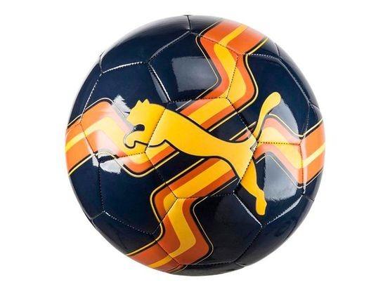 Bola De Futebol Puma Azul Escuro Marinho E Laranja Orange - R  98 7e19880818731
