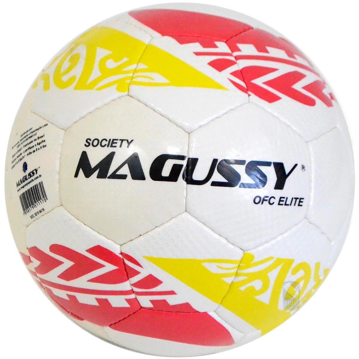 Bola De Futebol Society Magussy Microfibra Costura Mão C  Nf - R  75 ... 452d95c41b4ba