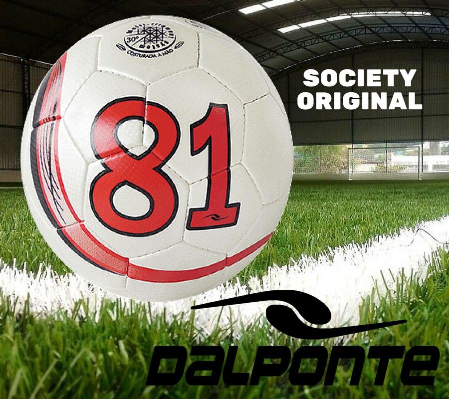 2eb86aba57 Bola Futebol Society Dalponte Since 81 Branca - R  125