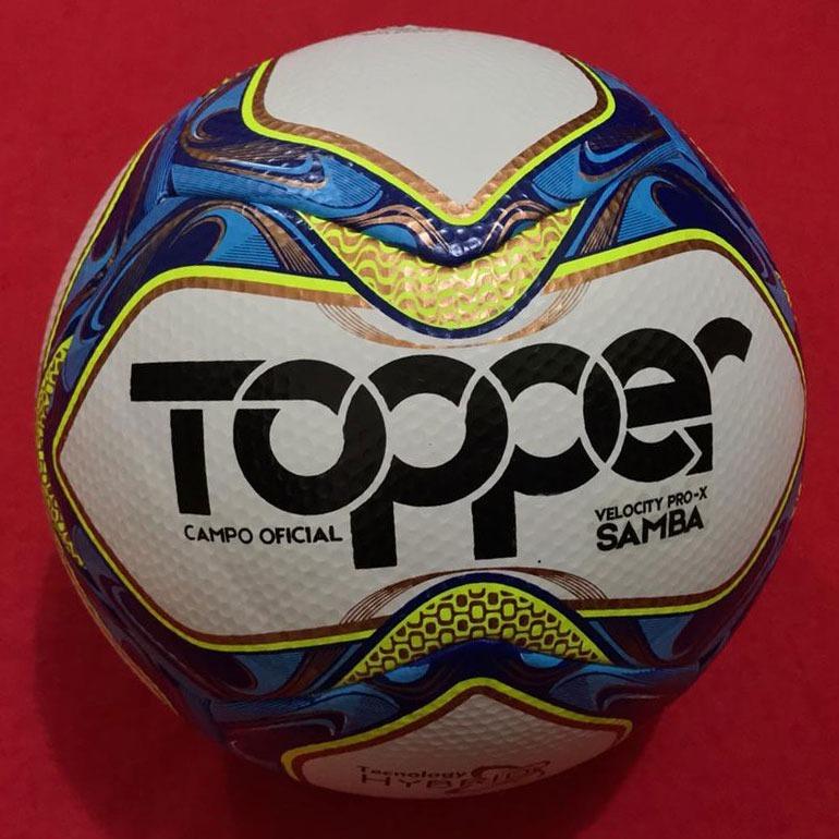 1d5b6f141662e Bola Futebol Topper Samba Velocity Pro-x 12x Sem Juros - R  189