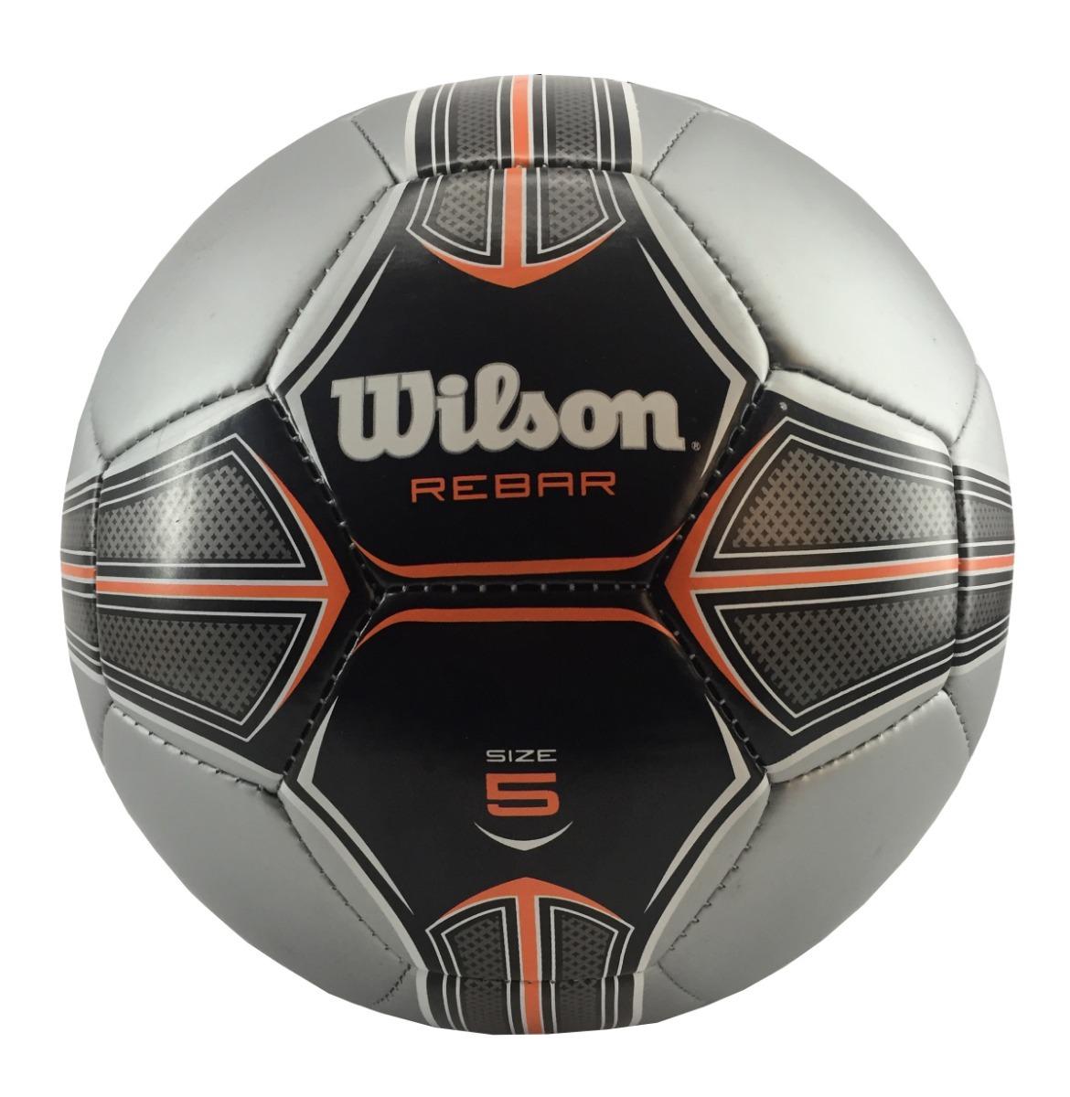 387cf0da02 Bola Futebol Wilson Rebar 5 - Prata E Laranja - R  59