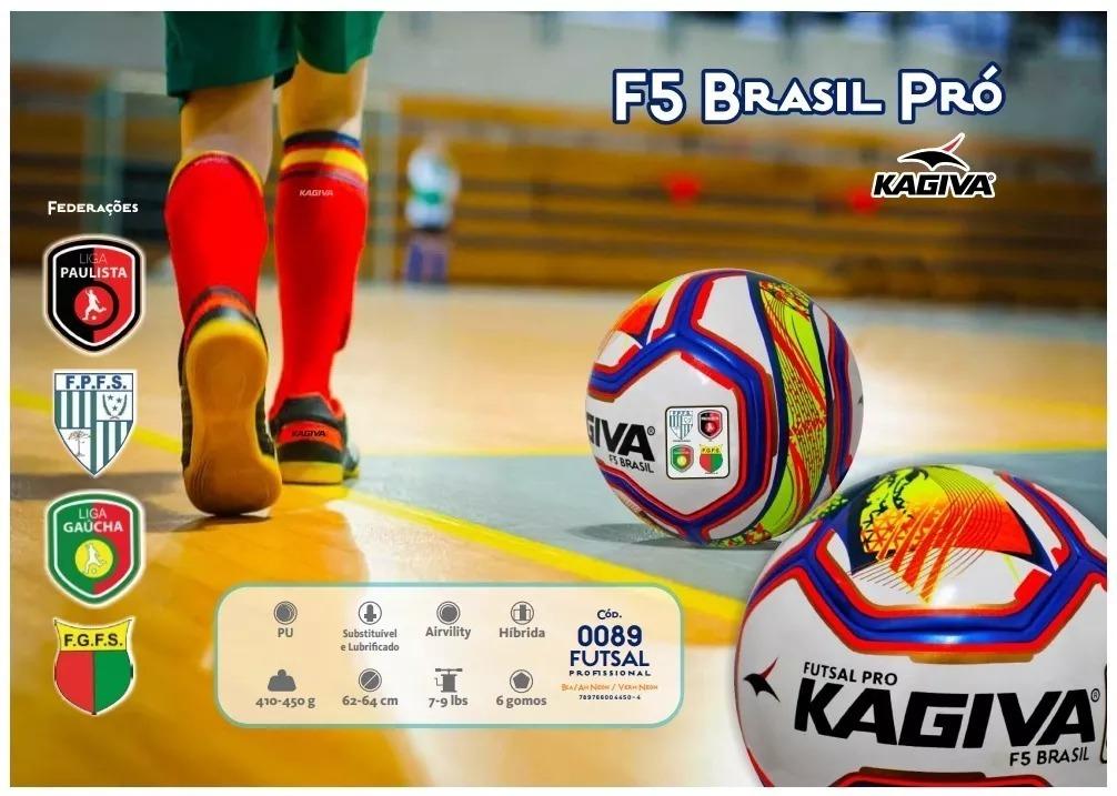 70d06ddfccb48 bola futsal kagiva f5 pro brasil federação paranaense 2019. Carregando zoom.