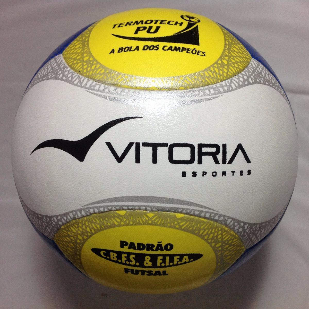 bola futsal original vitória oficial termotec pu 6 gomos 500. Carregando  zoom. 8cf74cd618c0d