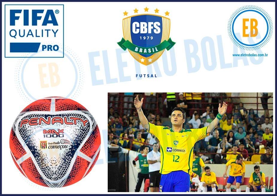 Nova Bola Futsal Max 1000 Viii Fpfs Pró Oficial Fifa Penalty - R ... 7da46e4ed43ed