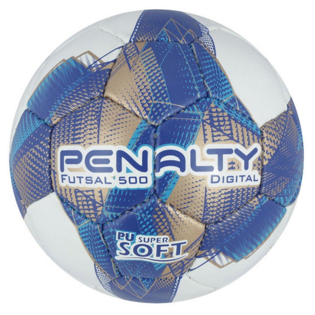 bola futsal penalty digital 500 com costura à mão 7 - branco. Carregando  zoom. 6d354442bab2d