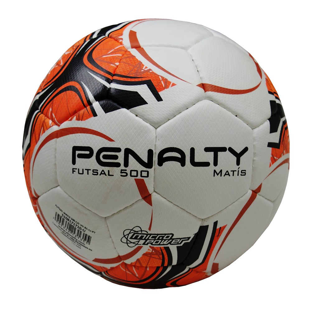 bola futsal penalty matis 500 costura à mão- branco-laranja. Carregando  zoom. e9ec2955f32e5