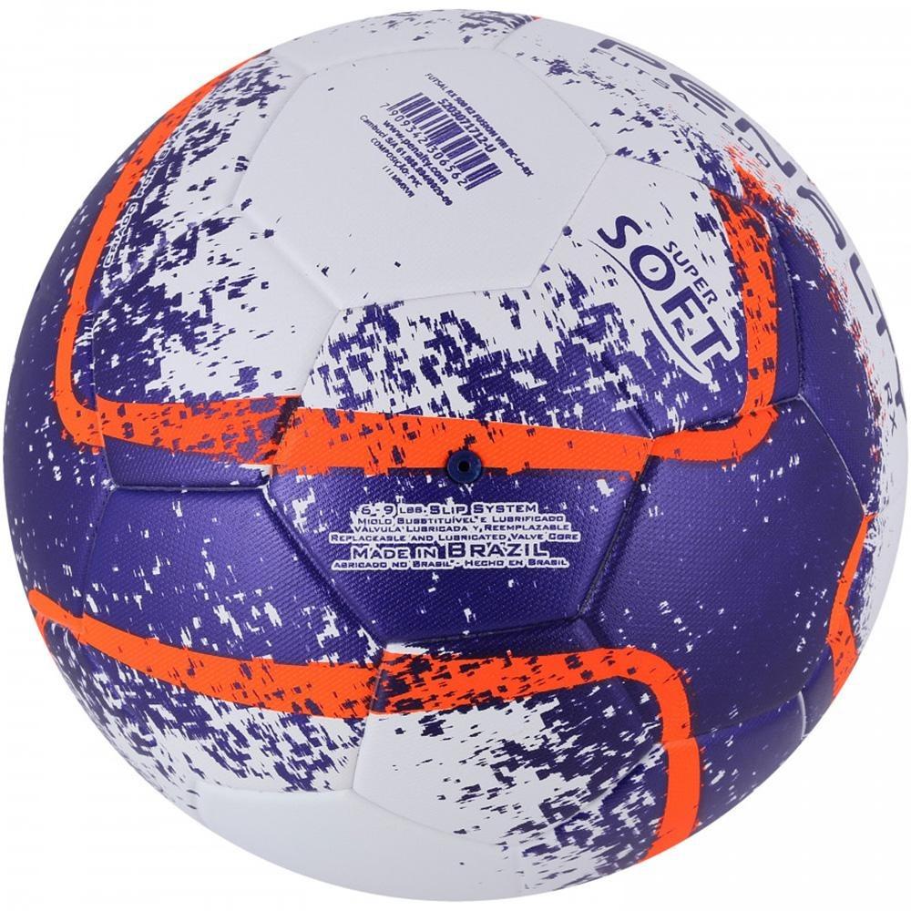 4a5e2be3f bola futsal rx 500 r2 fusion viii laranja e roxo penalty. Carregando zoom.