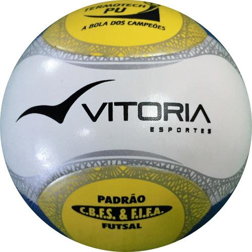 Bola Futsal Vitoria Oficial Termotec Pu 6 Gomos Original 500 - R  99 ... 8f590194a6502