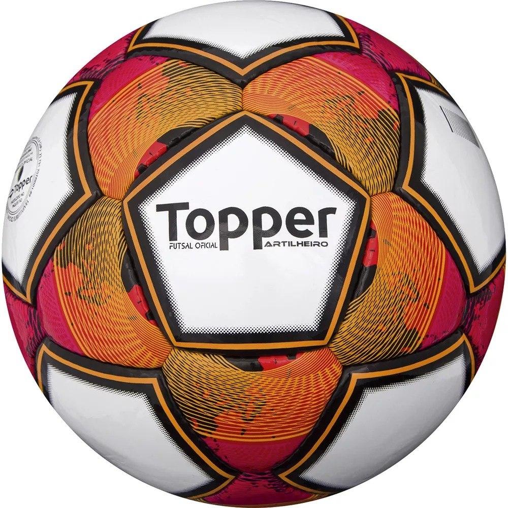 Bola Oficial Futsal Topper Artilheiro - Costurada À Mão- Pu - R  79 ... a8cab3c2907aa