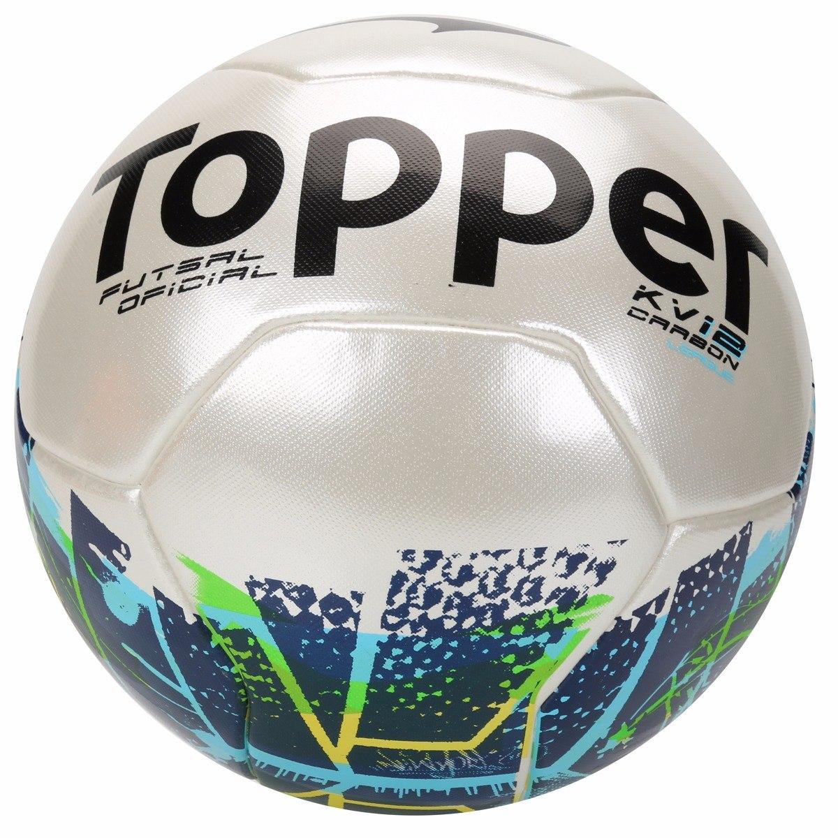 89668286397a5 Bola Futsal Topper Kv Carbon League 2 - R$ 99,90 em Mercado Livre
