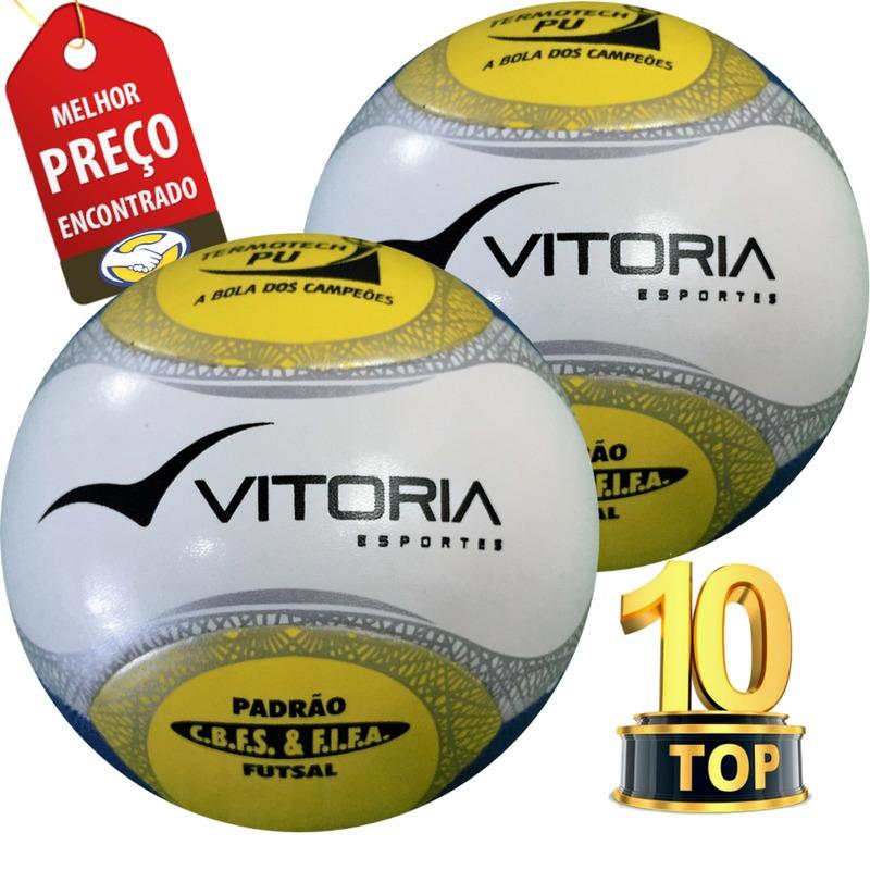 70fbe55a5210f bola futsal vitória oficial termotech pu 6 gomos 2 unidades. Carregando zoom .
