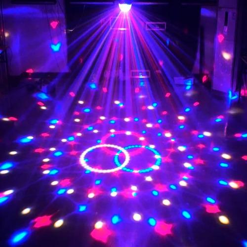 bola gbr fire compact gbr 20 w 6 led 1w rgbwop efecto audioritmico haces multicolores giro mijalshop