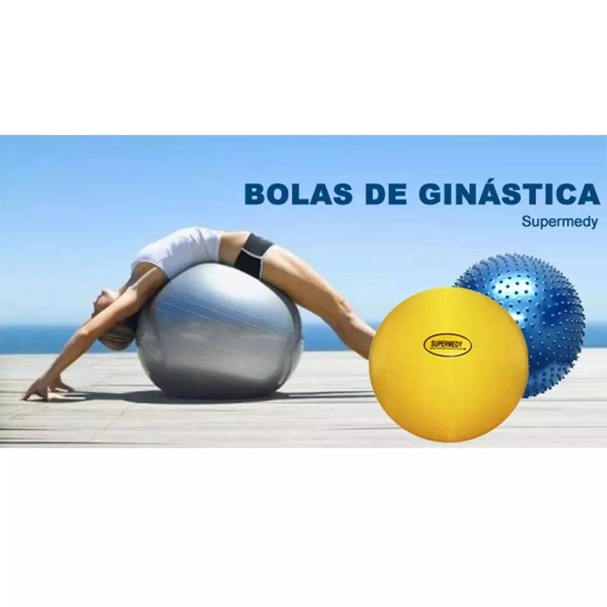 Bola De Ginastica 75 Cm C  Bomba Para Inflar Supermedy - R  78 209d9752941bc