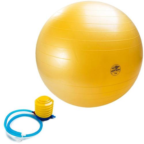 bola gym ball anti-burst 75cm fit c/ bomba ar mormaii 447300