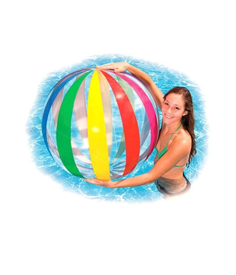 Bola inflavel de praia e piscina jumbo gigante 107cm intex for Bolas para piscina de bolas