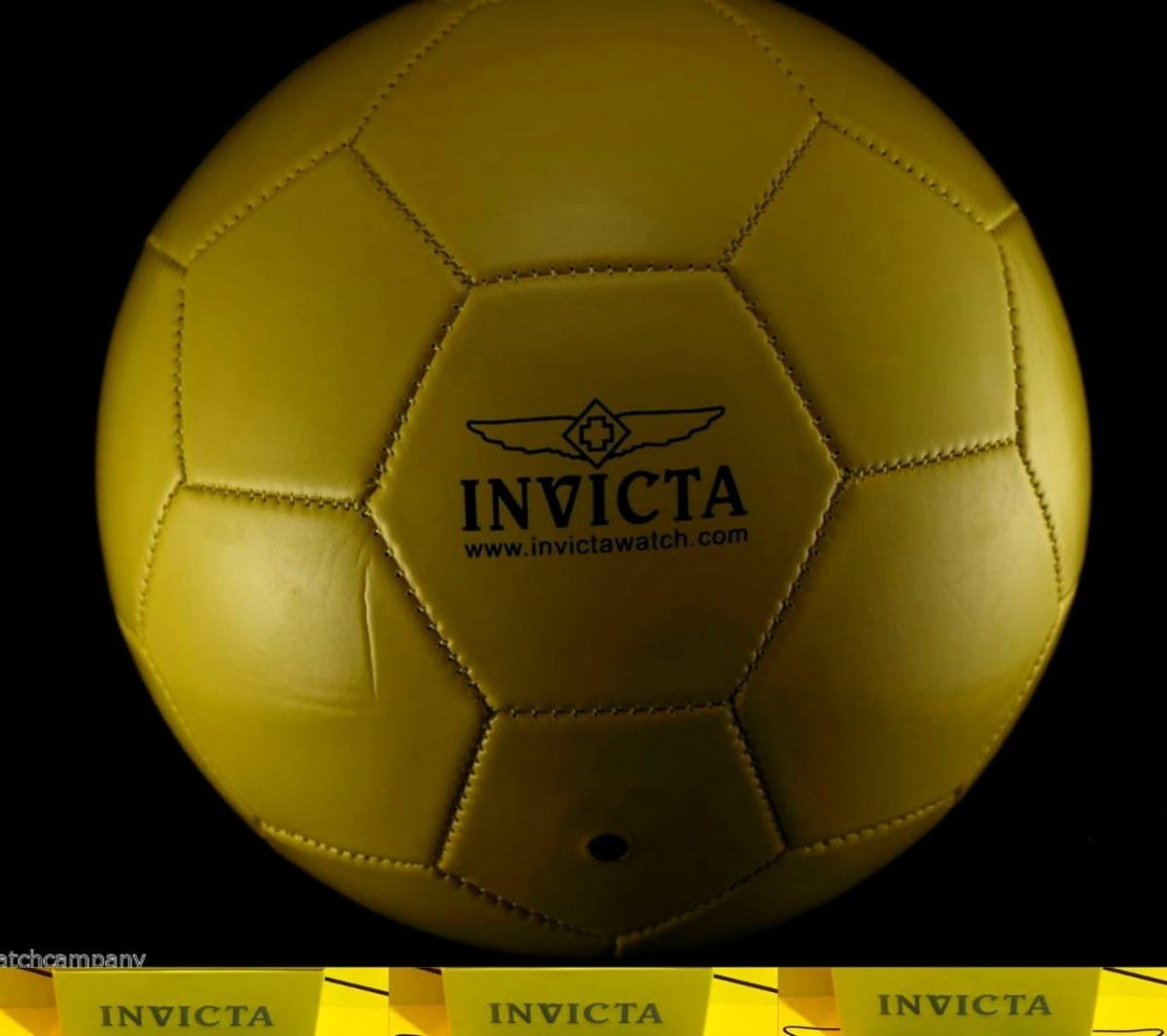 3b2e733b1 Bola Invicta Futebol Couro Original. - R$ 219,00 em Mercado Livre