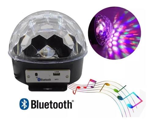 bola led audioritmica con parlante usb bluetooth rgb