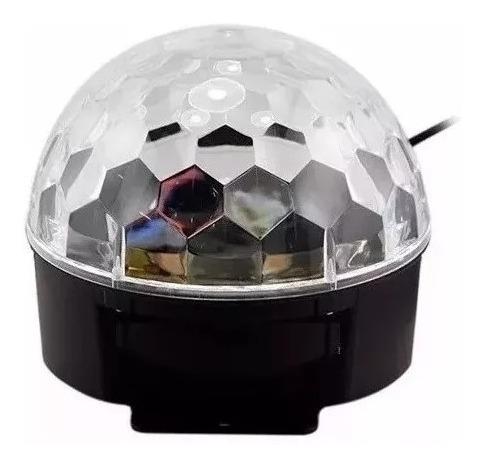 bola led audioritmica esfera giratoria rgb 6 colores dj