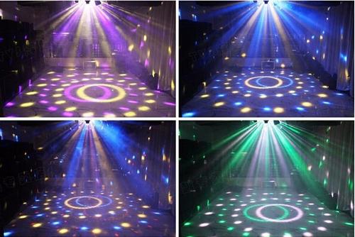 bola led audioritmica + flash led blanco 10w dj