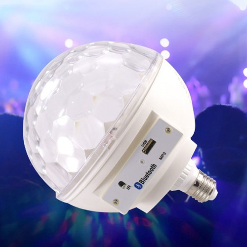bola led bluetooth magica d cristal ritmica luces usb