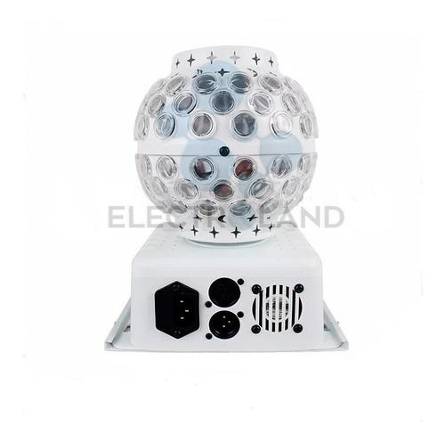 bola led giratoria 360° gobos dmx rgbw audioritmica disco