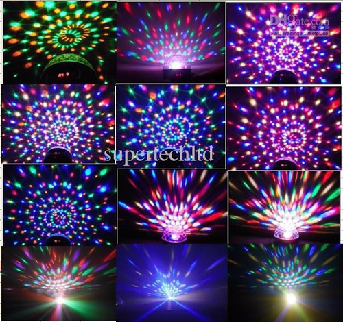 bola led magica d cristal ritmica luces doble parlante usb