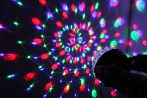 bola led magica d cristal ritmica luces, doble parlante, usb