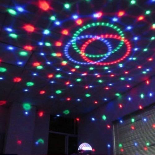 bola led rgb audioritmica usb sd luz + parlantes pendrive