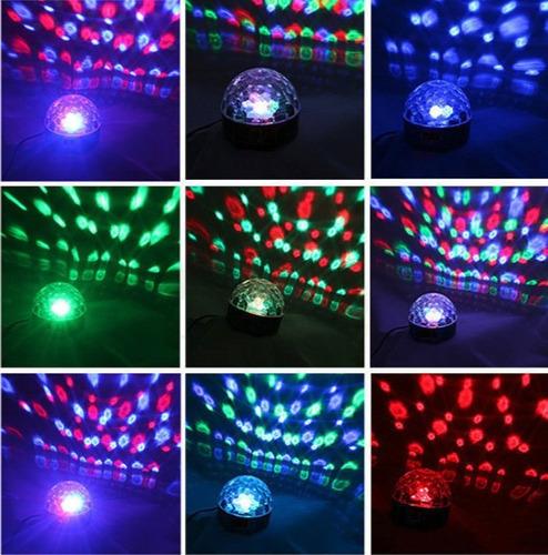 bola loca led usb sd luz audioritmica incluye pendrive stock