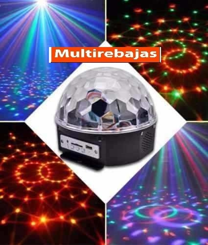 bola luces luz led audioritmico ideal para bar ò discoteca