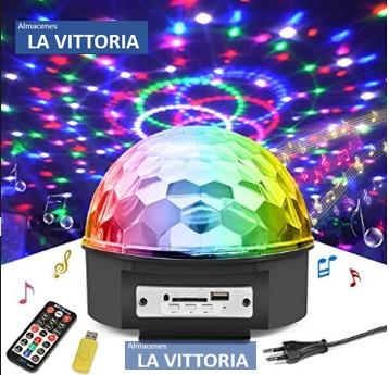 bola luces luz led audioritmico ideal para bar o discoteca