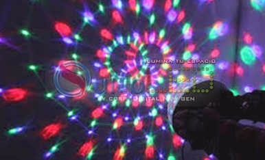 bola mágica led - audioritmica - mp3 - sd - usb - control