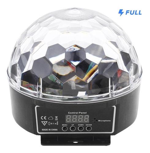 bola maluca globo luz 6 cores 18w ativado som dmx cristal
