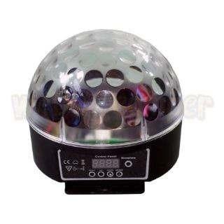 bola maluca led rgb 20w entrada dmx crystalball balada festa