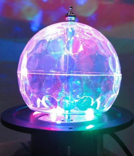 bola maluca led rgb holográfico cystall ball - efeito led dj