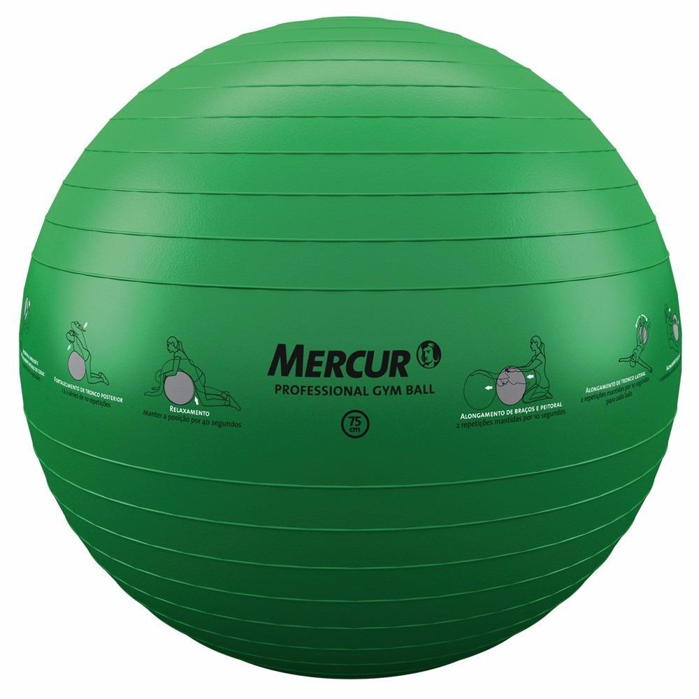 c5fdd737f9 bola mercur professional gym ball p  yoga pilates 75cm. Carregando zoom.