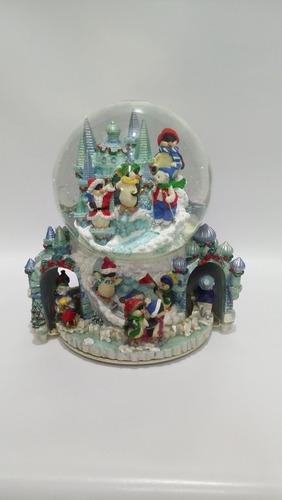 bola musical de nieve con movimiento u.s.a. en marmolina