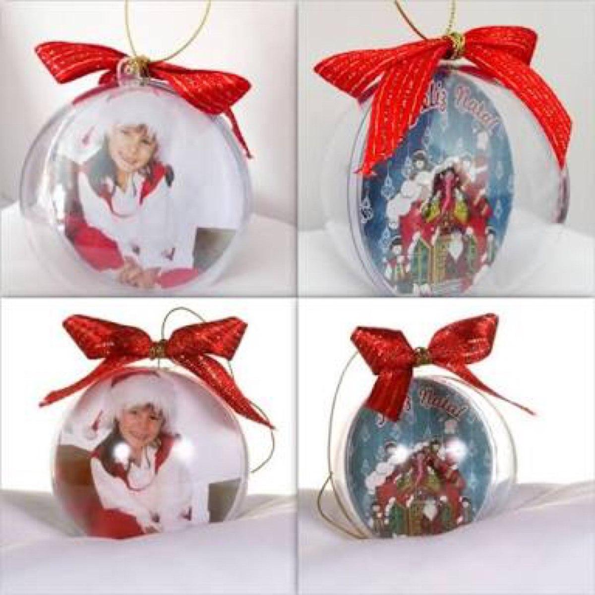 50 bola de natal acr lica para personalizar envio 48hs r - Bolas transparentes para decorar ...