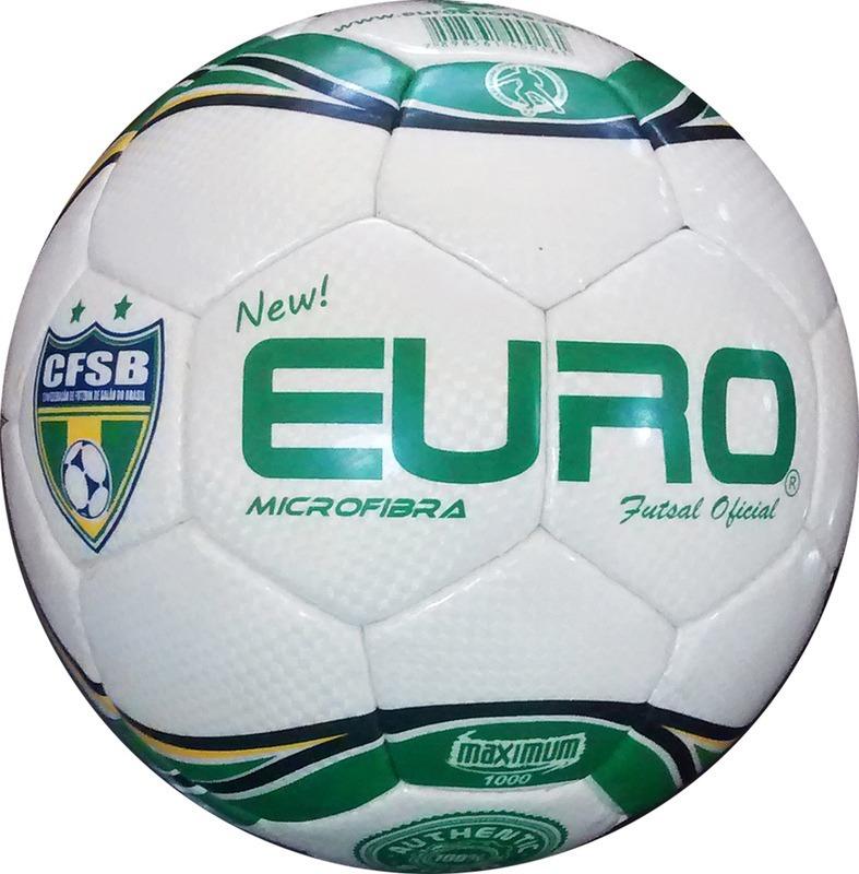 6200fe8f655b7 bola new euro futsal verde costurada à mão em microfibra. Carregando zoom.