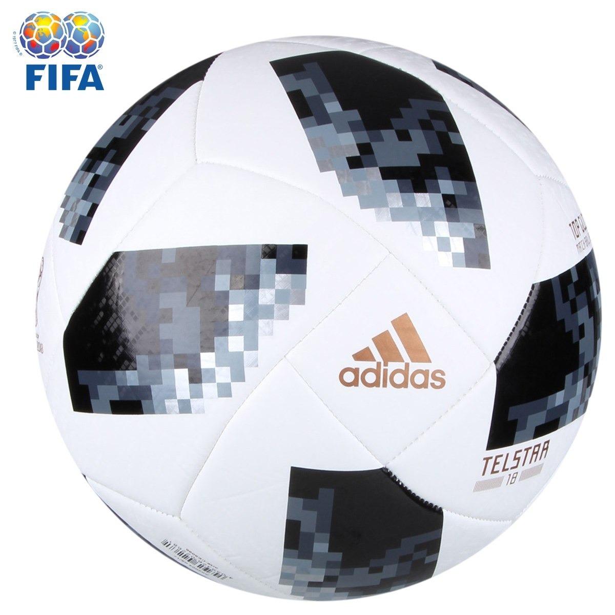 3fb6b3aca Bola Oficial adidas Telstar Copa Do Mundo Rússia 2018 Campo - R  99 ...