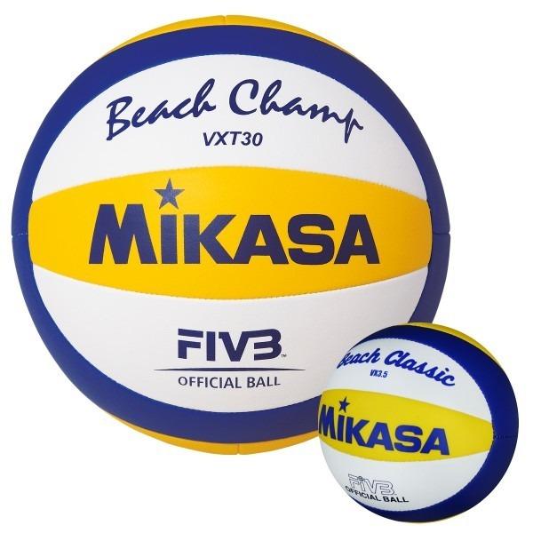 6af49fc0ae Bola Oficial De Volei De Praia Mikasa Beach Champ Vxt30 - R  199