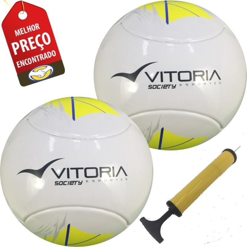 0648eb5d53760 Bola Oficial Futebol Liga Sete   Society Com 2 Unidades - R  199