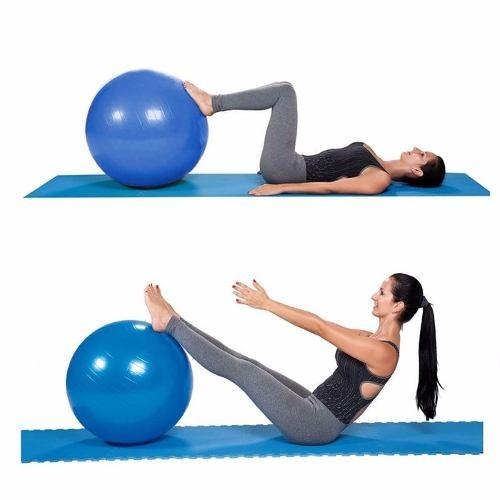 7f5f1f5c0 Bola Para Pratica Pilates 55 Cm Suporta Ate 150 Kg Promocao - R  59 ...