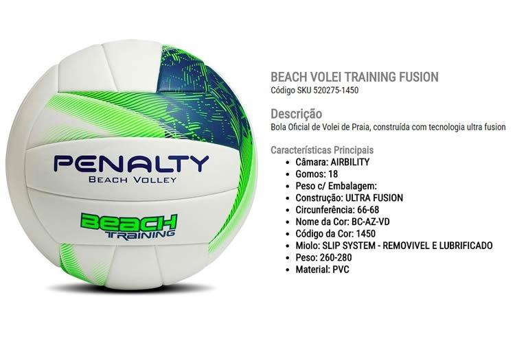 Bola Penalty Beach Volley Training Ultra Fusion Frete Grátis - R ... 39adc526744c0