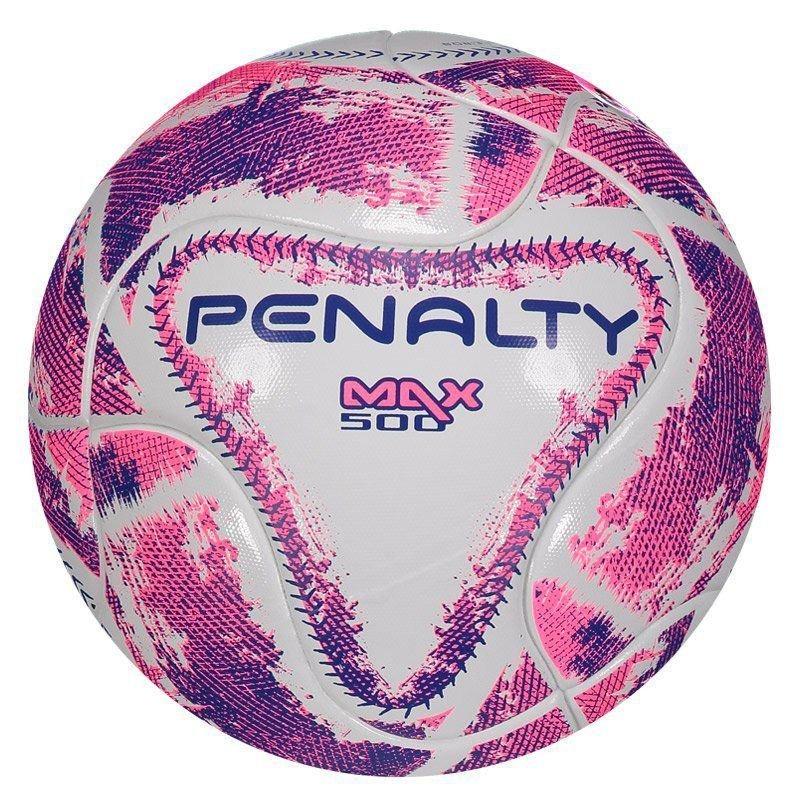 bola penalty max 500 term lx futsal branca e rosa. Carregando zoom. 97c1c430bf1c8