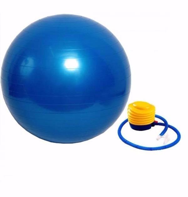 Bola Pilates Yoga Abdominal Ginastica Fitness 65 Cm C  Bomba - R  48 ... a300aea46d402