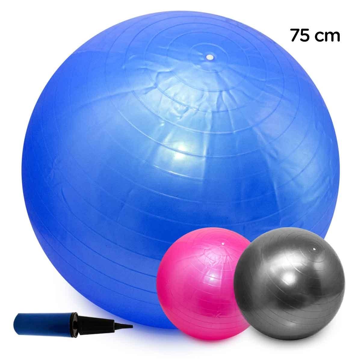 bola pilates yoga abdominal ginástica fitness 75cm c  bomba. Carregando  zoom. 8192e2ebd72c7