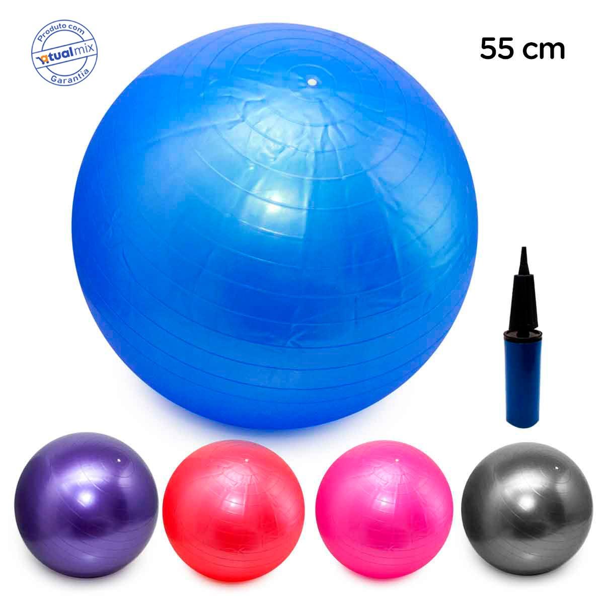 818bfce4d bola pilates yoga fitness 55cm c  bomba abdominal ginastica. Carregando  zoom.