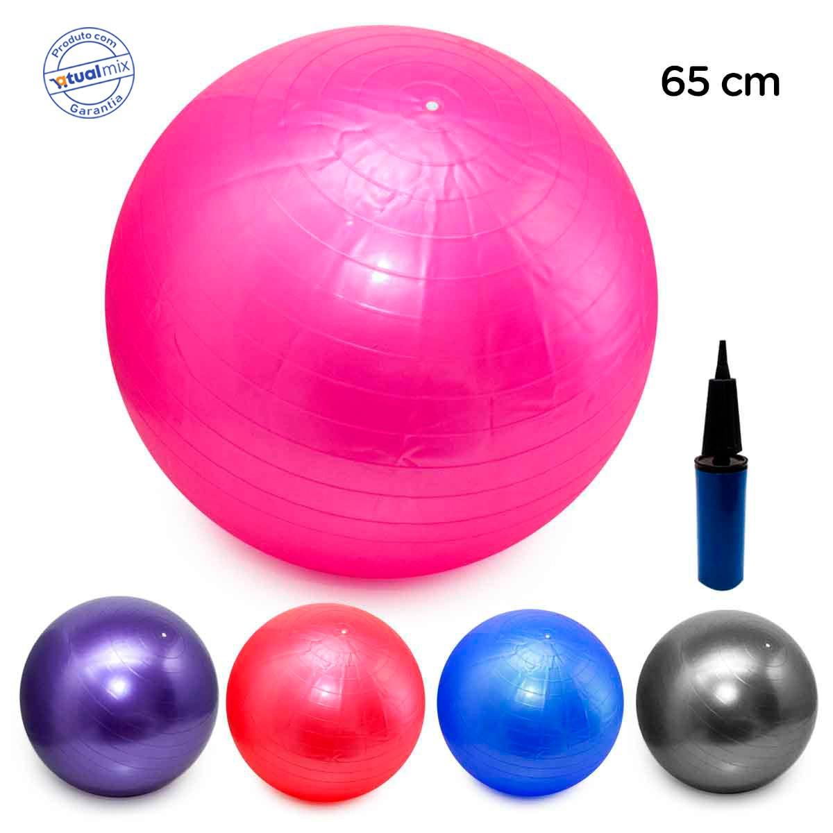 bola pilates yoga fitness 65cm c  bomba abdominal ginastica. Carregando  zoom. a75d3902a9eb3