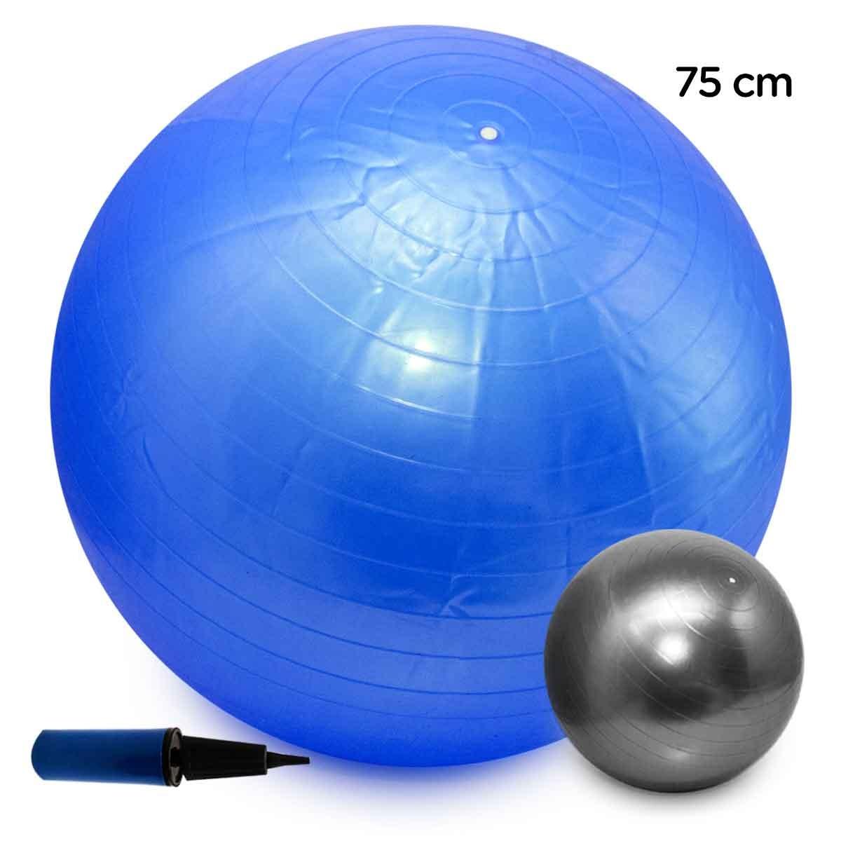 bola pilates yoga fitness 75cm c  bomba abdominal ginastica. Carregando  zoom. 37c75b05e1652